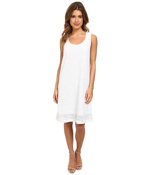 Nally & Millie - Jacquard Sleeveless Dress (White) Women