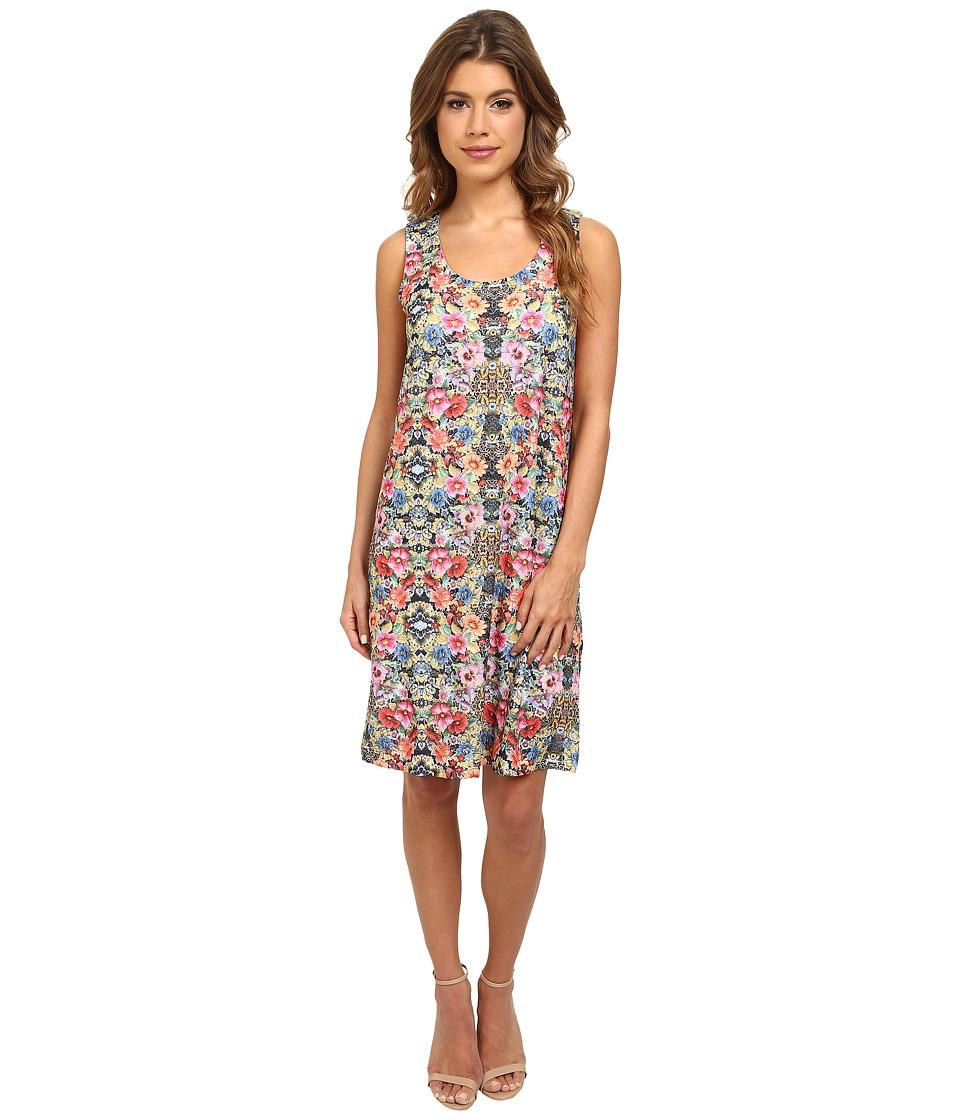 Nally & Millie - Sleeveless Floral Jacquard Dress (Multi) Women