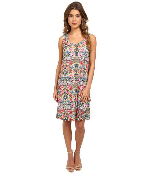 Nally & Millie - Sleeveless Floral Jacquard Dress (Multi) Women's Dress