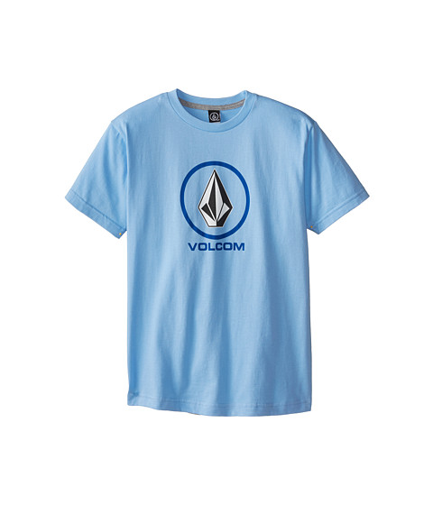 Volcom Kids - New Circle S/S Tee (Big Kids) (False Blue) Boy