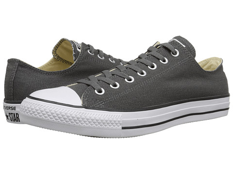 Converse - Chuck Taylor All Star Coated Canvas Ox (Thunder/Black/White) Lace up casual Shoes
