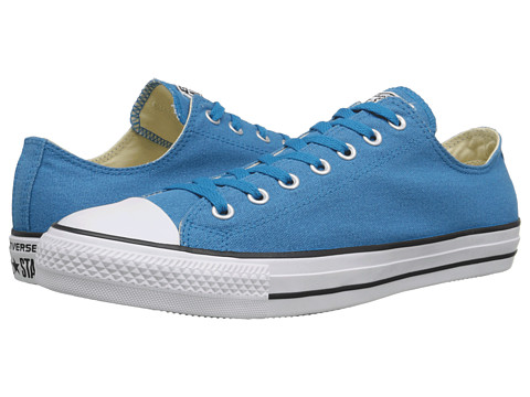 Converse - Chuck Taylor All Star Coated Canvas Ox (Cyan Space/Black/White) Lace up casual Shoes
