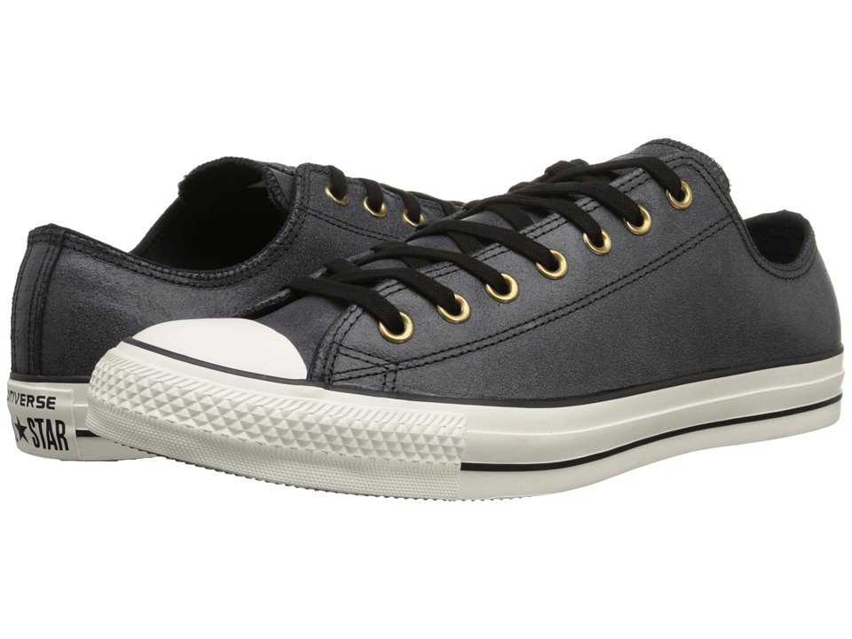 Converse - Chuck Taylor All Star Vintage Leather Ox (Black/Black/Egret) Lace up casual Shoes