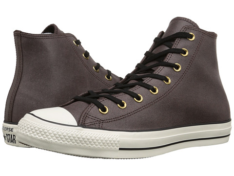 Converse - Chuck Taylor All Star Vintage Leather Hi (Burnt Umber/Black/Egret) Lace up casual Shoes