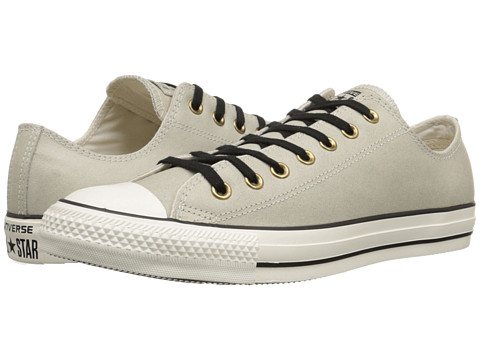 Converse - Chuck Taylor All Star Vintage Leather Ox (Parchment/Black/Egret) Lace up casual Shoes