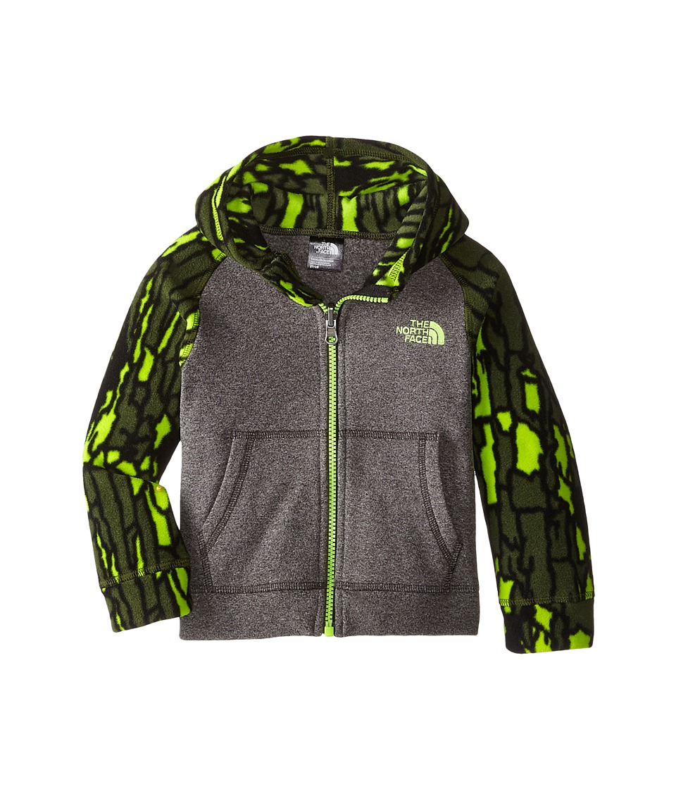 The North Face Kids Glacier Full Zip Hoodie Toddler Zinc Grey Heather-Tree Bark Camo Boys Sweatshirt