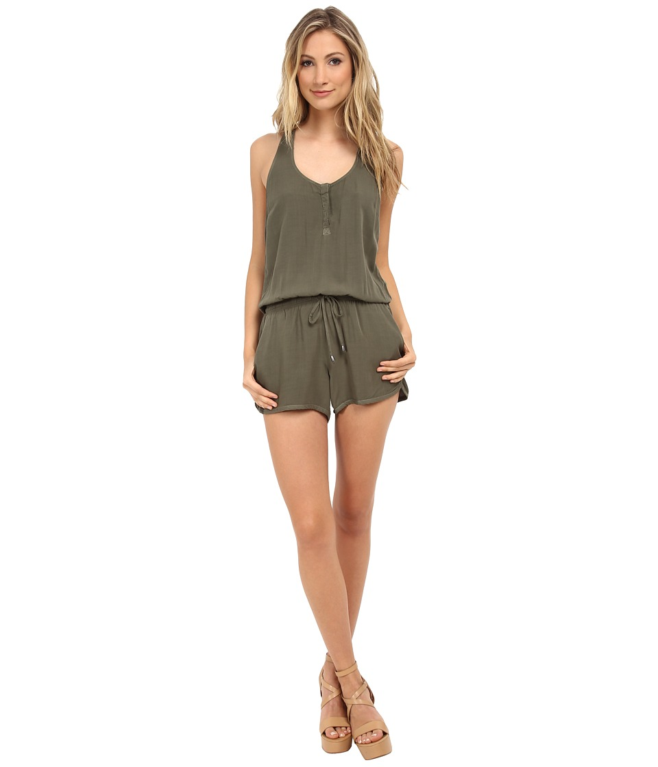 Splendid - Romper (Olive) Women's Jumpsuit & Rompers One Piece
