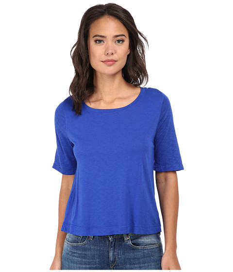 Splendid - Very Light Jersey Tee (Cobalt Blue) Women