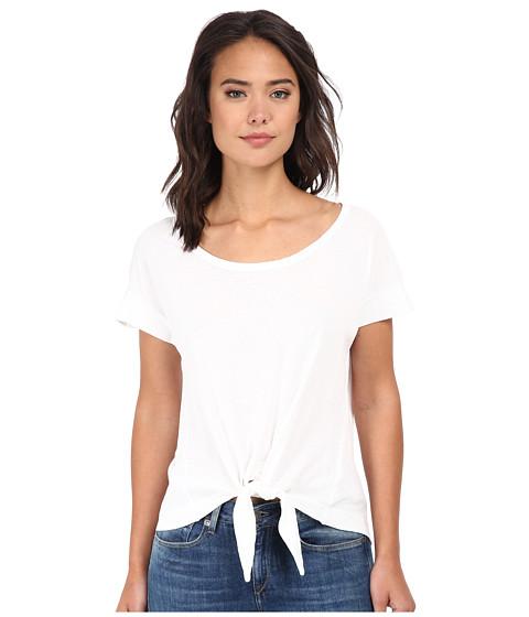 Splendid - Vintage Whisper Tie Front Tee (Paper) Women's T Shirt