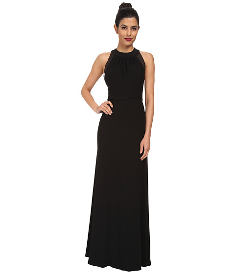 JILL JILL STUART - Isabelle Illusion Panel Gown (Black) Women