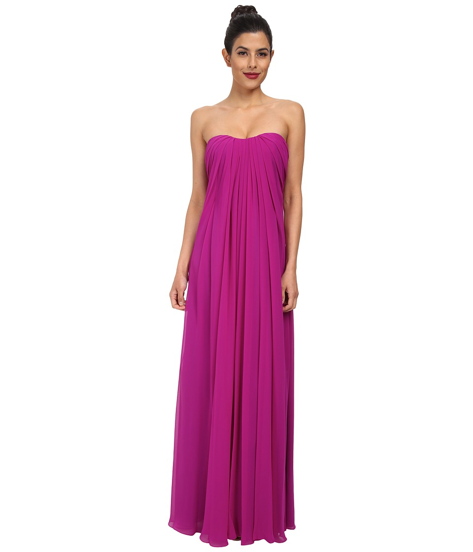 JILL JILL STUART - Strapless Chiffon Gown (Magenta) Women's Dress