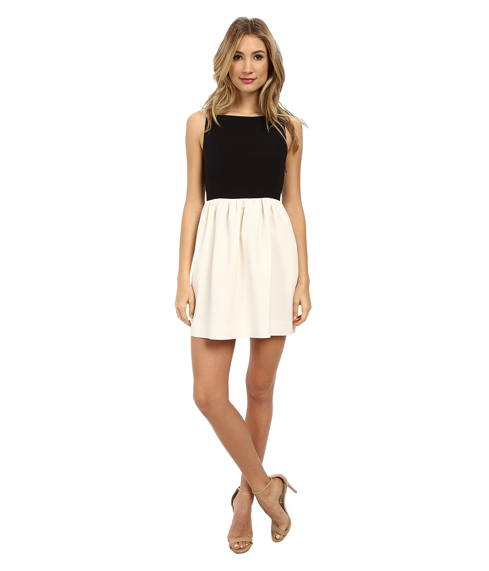 JILL JILL STUART Piper Color Blocked Dress (Black/Off White) Women