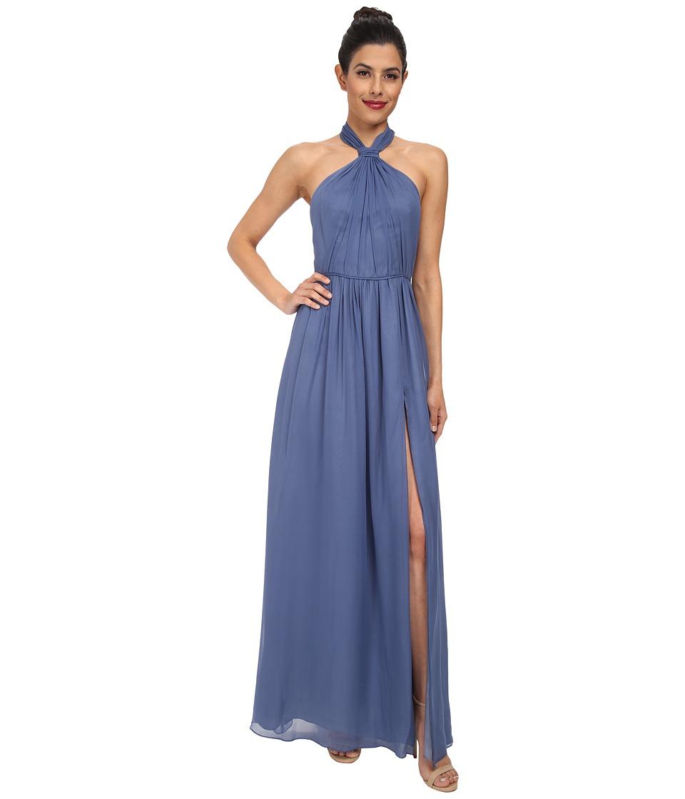 JILL JILL STUART Aurora Knotted Halter Gown (French Blue) Women