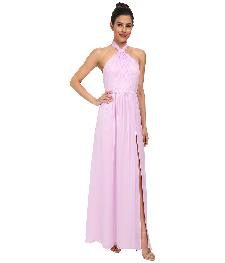JILL JILL STUART - Aurora Knotted Halter Gown (Lilac) Women's Dress