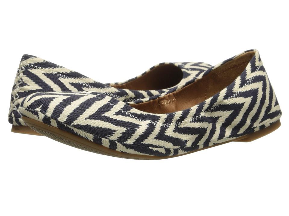 Lucky Brand - Emmie (Ikt Chvrn Moroccan Blue) Women's Flat Shoes