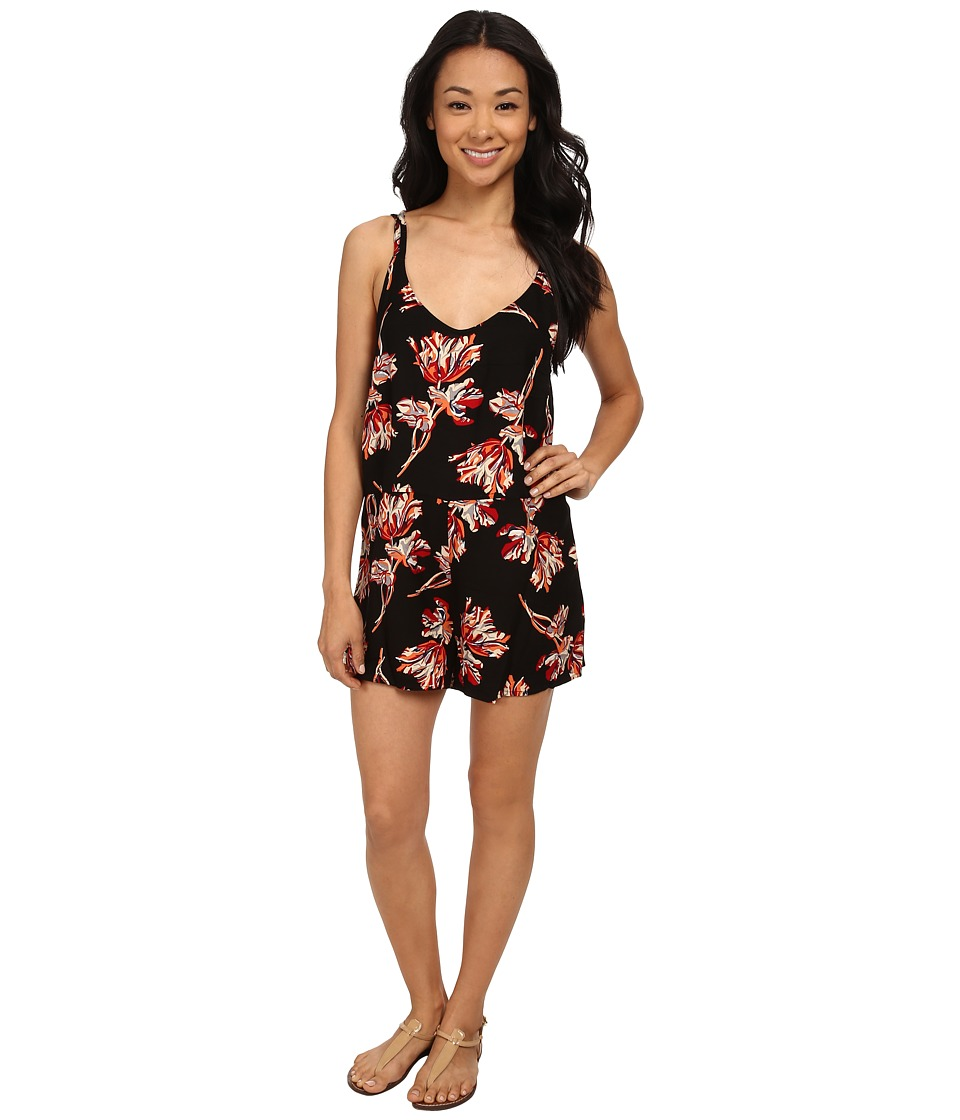 Obey - Blythe Short Romper (Black Multi) Women's Jumpsuit & Rompers One Piece