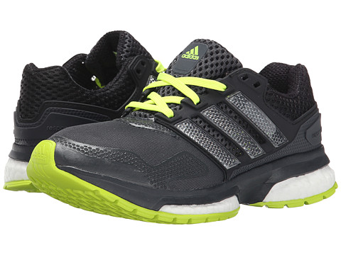adidas Kids - Response Boost Techfit J (Big Kid) (Dark Grey/Footwear White/Core Black) Boys Shoes