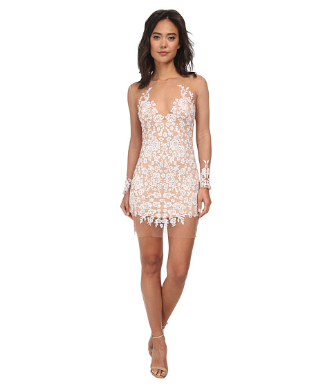 For Love and Lemons - Luau Mini Dress (White/Nude) Women