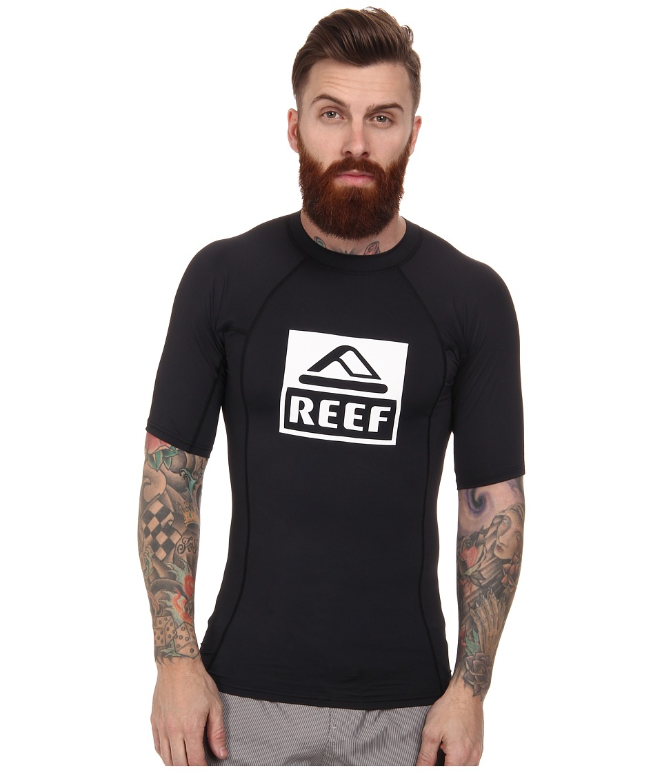 Reef - Logo Rashguard 4 (Black) Men
