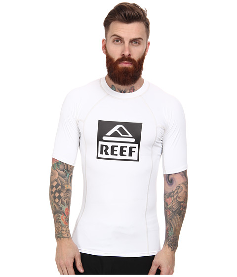 Reef - Logo Rashguard 4 (White) Men