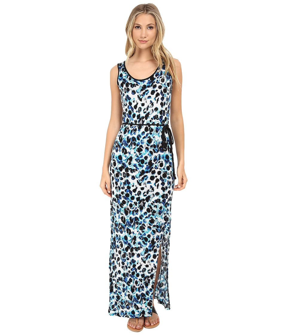 kensie Colorful Water Spots Dress KS6K7595 (True Blue Combo) Women