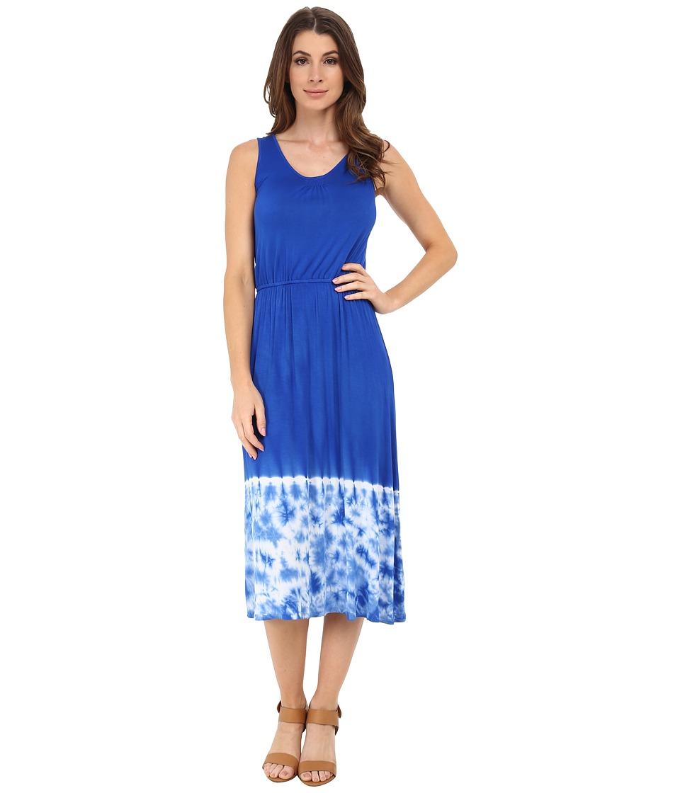 kensie - Placement Tie-Dye Dress KS6K7596 (True Blue) Women