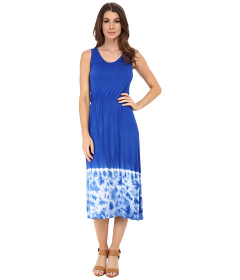 kensie - Placement Tie-Dye Dress KS6K7596 (True Blue) Women's Dress