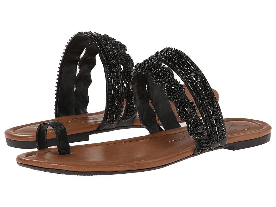 Jessica Simpson - Rakelle (Black Sleek) Women's Toe Open Shoes