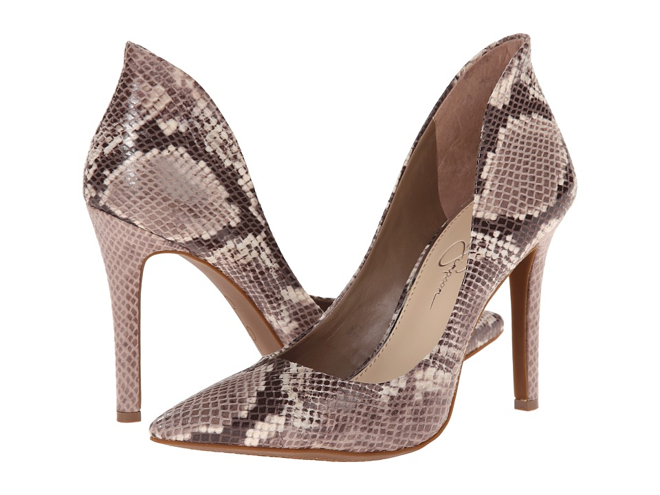 Jessica Simpson Cambredge (Taupe Combo Mojito Snake Print) High Heels