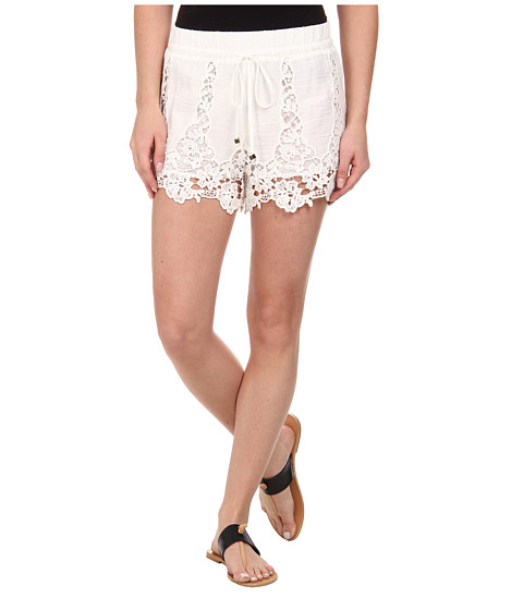 LAmade - Harper Cotton Lace Shorts (Natural) Women's Shorts