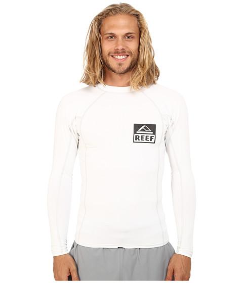 Reef - Reef L/S Rashie 2 Rashguard (White/White) Men