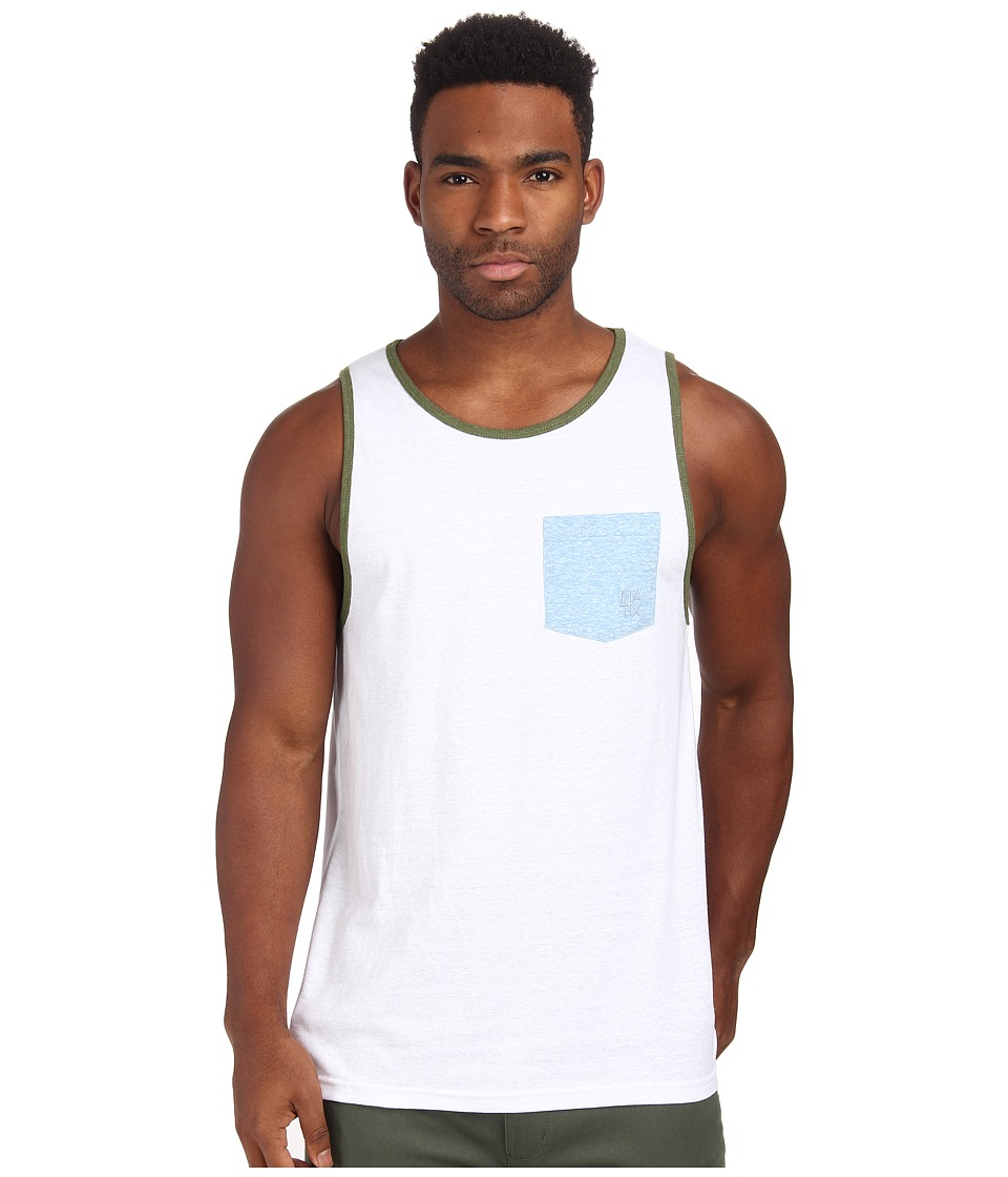 Matix Clothing Company - Standard Clash Tank Top (White) Men's Sleeveless