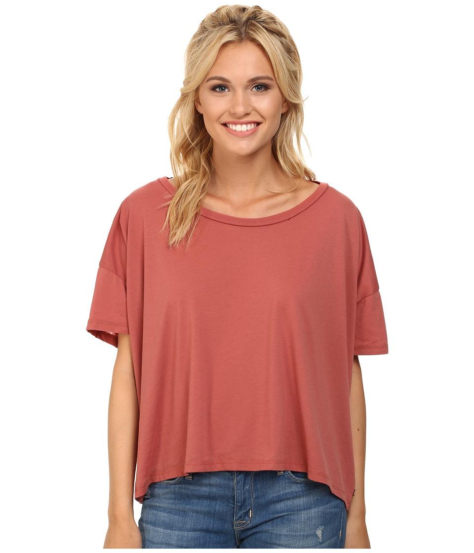 Obey - Pasadena Tee (Marsala) Women's Short Sleeve Pullover