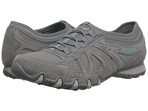 SKECHERS - Round - Trip (Gray) Women's Shoes