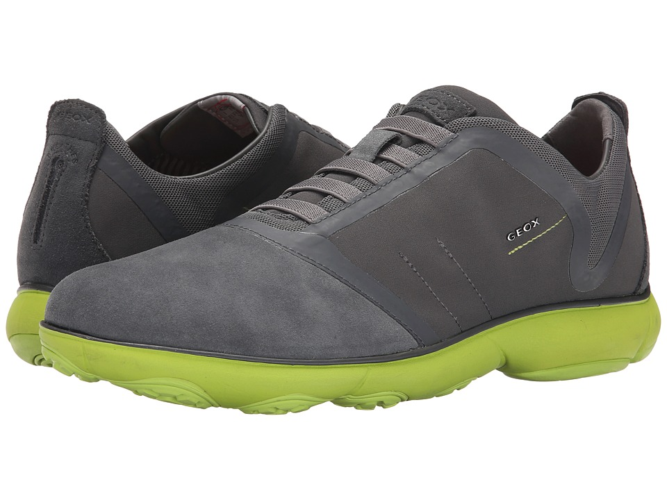 Geox - U Nebula 14 (Charcoal/Lime Green) Men's Shoes