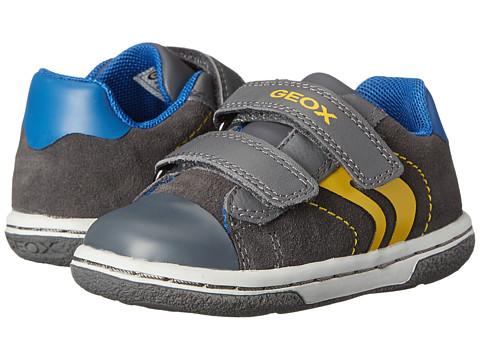 Geox Kids - Flick Boy 32 (Toddler) (Dark Grey/Yellow) Boys Shoes