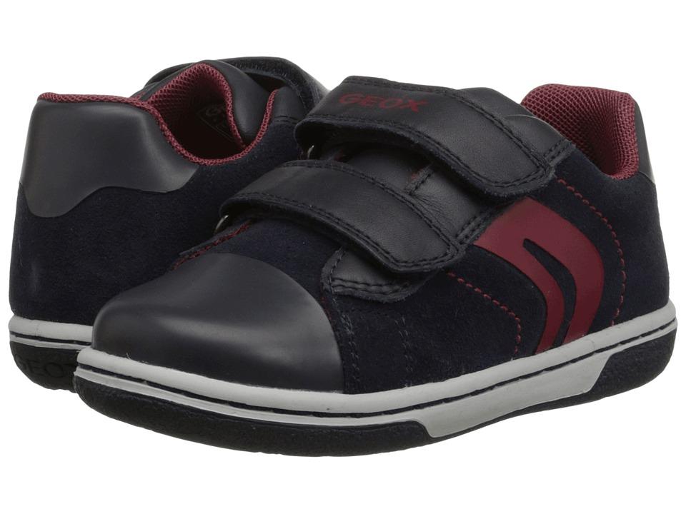 Geox Kids - Flick Boy 32 (Toddler) (Dark Navy/Red) Boy's Shoes
