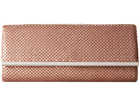 Jessica McClintock - Mesh Flap Clutch with Bar (Blush) Clutch Handbags