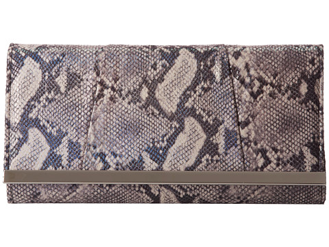 Jessica McClintock - Irridescent Snake Bar Clutch (Pewter) Clutch Handbags
