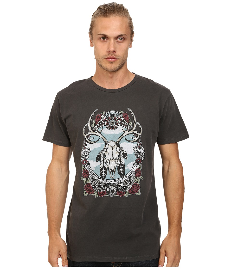 Obey - Stolen Land Lightweight Tee (Dusty Black) Men's T Shirt