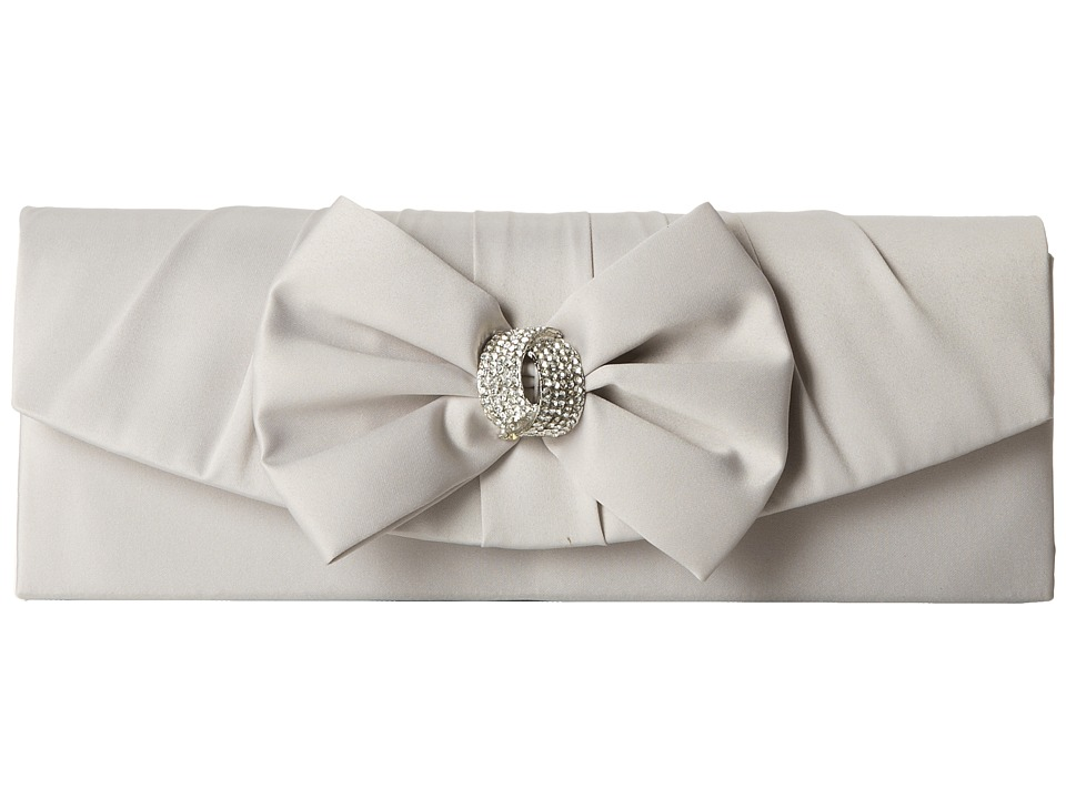 Jessica McClintock - Bow Tie Clutch (Silver) Clutch Handbags