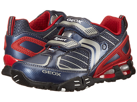 Geox Kids - Light Eclipse 22 (Toddler/Little Kid) (Navy/Red) Boys Shoes