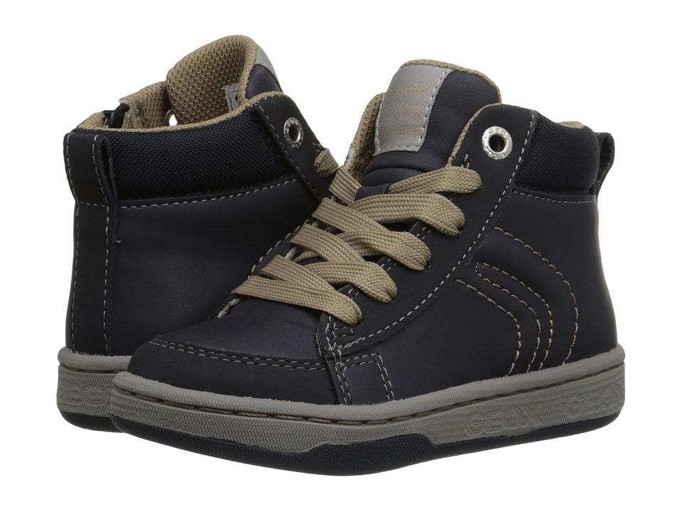 Geox Kids - Mania Boy 8 (Toddler/Little Kid) (Navy/Beige) Boy's Shoes