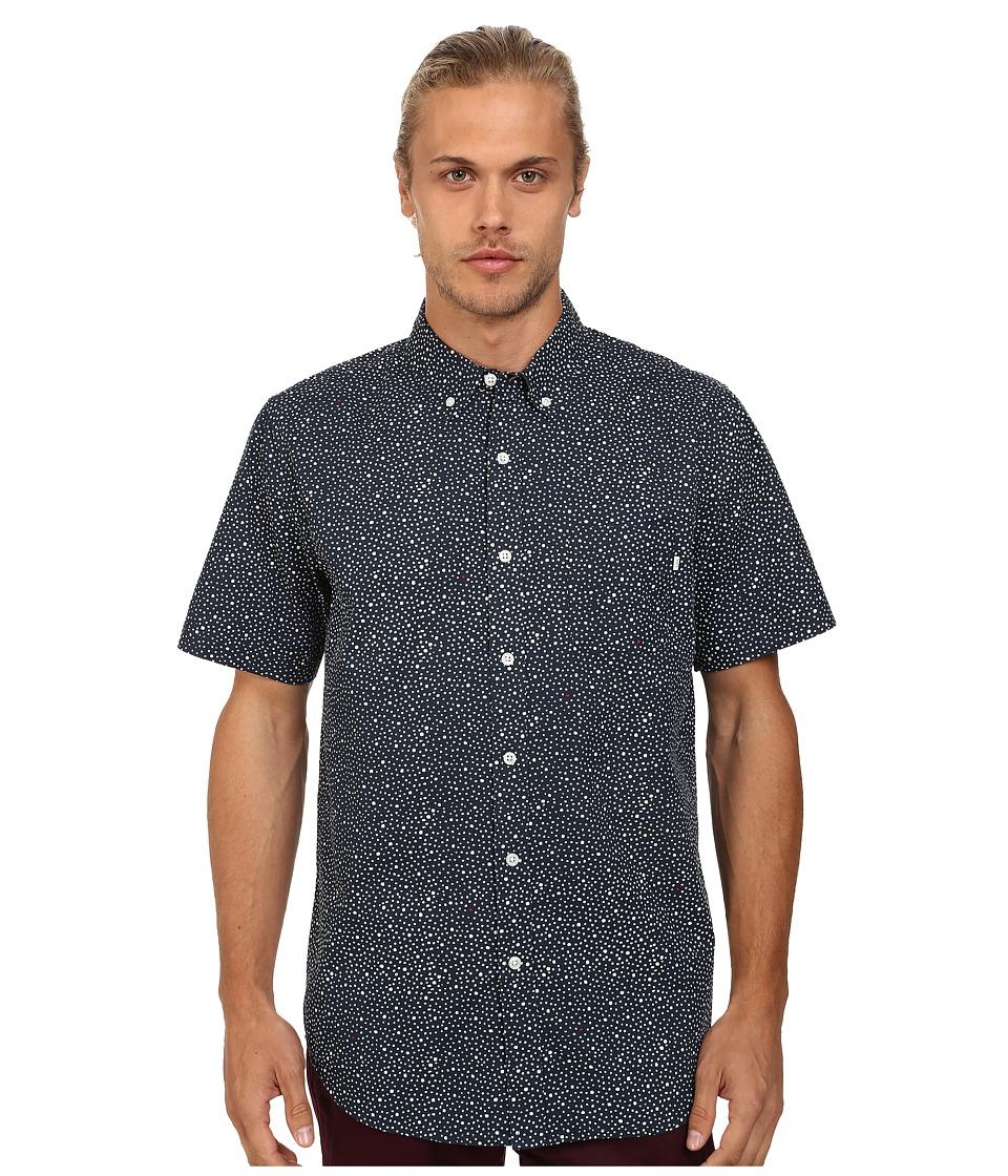 Obey - Journey Woven Short Sleeve (Navy Multi) Men's Clothing