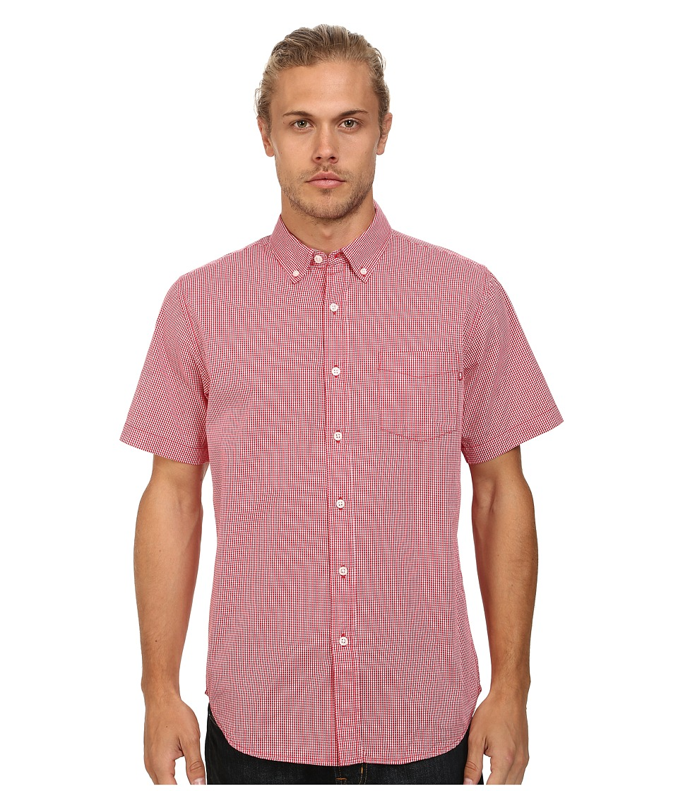 Obey - Luke Woven (Red Multi) Men's Short Sleeve Button Up