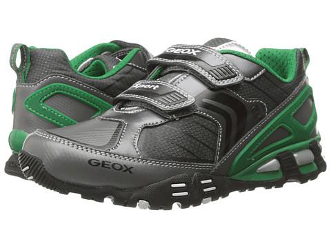 Geox Kids - Light Eclipse 22 (Little Kid/Big Kid) (Grey/Green) Boys Shoes