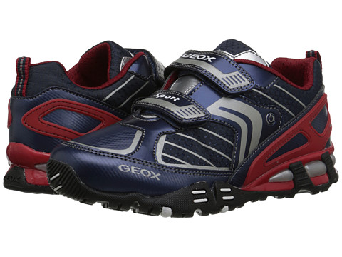 Geox Kids - Light Eclipse 22 (Little Kid/Big Kid) (Navy/Red) Boys Shoes