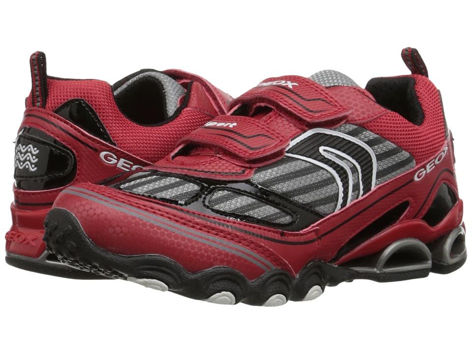 Geox Kids - Tornado 12 (Little Kid/Big Kid) (Red/Black) Boy's Shoes