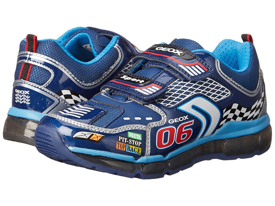 Geox Kids - Android Boy 2 (Little Kid\/Big Kid) (Navy\/Silver) Boy's Shoes