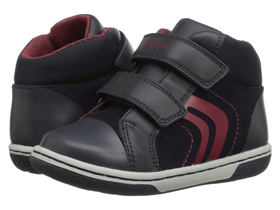 Geox Kids - Flick Boy 33 (Toddler) (Dark Navy/Red) Boy's Shoes